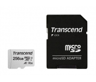 Transcend microSDXC USD300S 256GB CL10 UHS-I U3 Up to 95MB/S with adapter