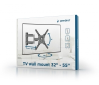 Gembird premium TV wall mount (rotate & tilt), 32''-55'', 30kg, black