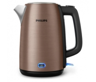 Philips Kettle HD9355/90 1740-2060W, 1.7l, solar titanium colored metal, spring lid, keep warm