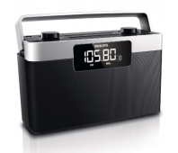 Philips Portable Radio AE2430 FM/MW, Digital tuning 20 one touch presets Clock Battery or AC operated