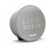 Philips Clock Radio TADR402/12 Gentle wake, Dual alarm function, Night light, USB port