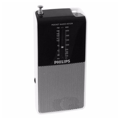Philips Portable Radio AE1530/00 pocket size, FM/MW tuner, Built-in speaker, Headphone jack