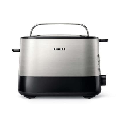 Philips Viva Collection Toaster HD2637/90 Extra wide 2 slots toaster Built in bun warmer Black