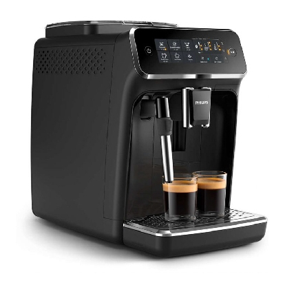 Philips Series 3200 Fully automatic espresso machines EP3221/40 4 Beverages Classic Milk Frother Glossy Black Touch display