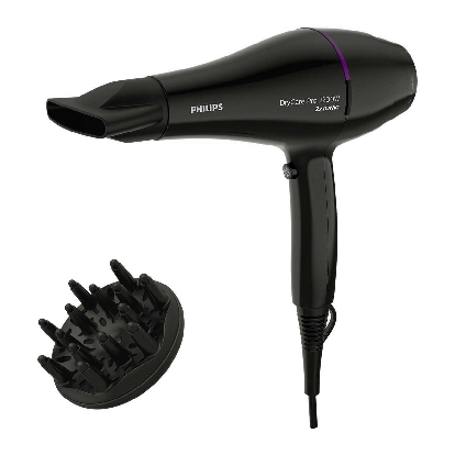 Philips DryCare Pro Hairdryer BHD274/00 Powerful AC motor 2200W drying power High air speed up to 130 km/h* 2x more ions** for shiny hair