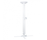 Ceiling distance: 820-1200 mm, Weight capacity: 30 kg, Material: Steel, Aluminum, White.
