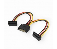 GEMBIRD CC-SATAM2F-02 Gembird cable power SATA 15 pin -> 2x SATA HDD (angled connectors)