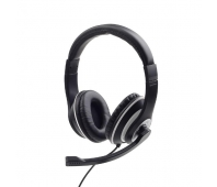 GEMBIRD MHS-03-BKWT Stereo headset with microphone black color with white ring