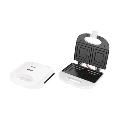 ECG S 1170 Sandwich maker, 750W, Suitable for preparing 2 square toasts sandwiches