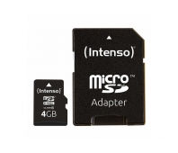 MEMORY MICRO SDHC 4GB C10/W/ADAPTER 3413450 INTENSO