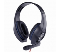 GEMBIRD gaming headset with volume control blue-black 3.5 mm
