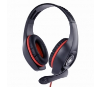 GEMBIRD gaming headset with volume control red-black 3.5 mm