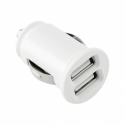 TOTI Dual USB Car Charger with Lightning non-MFI cable 1m 2.1A (White)