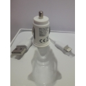 T-CC22 Dual USB Car Charger with lightning cable 2.1A (White)