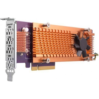 QNAP Dual M.2 22110/2280 PCIe SSD expansion card for TS-531P TS-531X TS-831X TS-1635 TS-x31XU TS-x53B TS-563 TVS-x63 TS-x63U x73