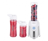 ECG SM 5030 Mix&Go Smoothie maker, 3 mixing container/bottles (2 x 570 ml, 1 x 400 ml), Triple Stainless Steel Blades, 2 thermo sleeves