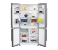 BEKO Side by Side Refrigerator GN1416231JXN, Energy class F (old A+), Height 182cm, Width 90.8cm, Everfresh+, Neo Frost, Inverter motor, Active Ionizer, Camera Multi-Zone, Inox