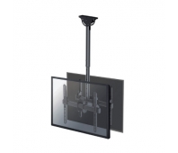 """Neomounts by Newstar Select TV/Monitor Ceiling Mount for Dual 32""""-60"""" Screens (Back to Back), Max. weight: 25 kg (per screen), height Adjustable - Black"""