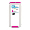 HP no.70 Ink Cart. Magenta with Vivera Ink (130ml)