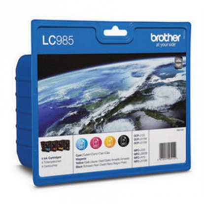 Brother LC985VALBP Multipack Ink Cartridge, Black, Cyan, Magenta, Yellow