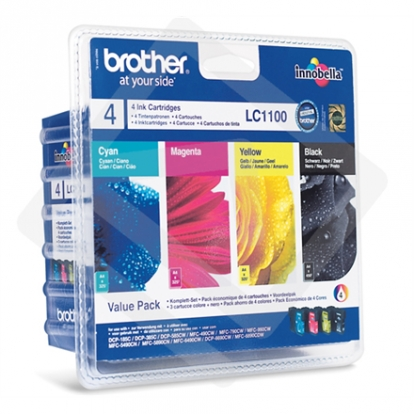 Brother LC1100 C M Y BK Multipack for MFC-6490CW/ 5890CN/ 6890CDW/ 490CW/ 990CW/ DCP-385C/ 585CW/ 6690CW