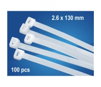 Logilink Cable tie set 100 pcs in polybag length: 150 x2.5 mm White