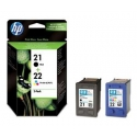 HP 21/22 Combo-pack Inkjet Print Cartridges