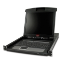 APC 17'' LCD KVM Console PS2/USB 1U with integrated 8 port analog KVM switch