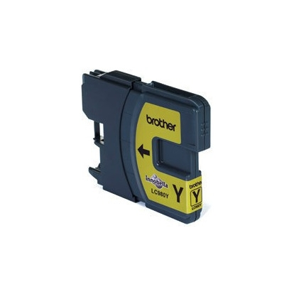 Rašalo kasetė Brother LC980Y yellow | 260 psl | DCP145C/ DCP165C/ MFC250C/MFC290