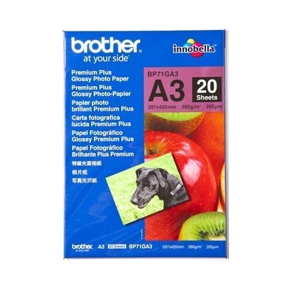 BROTHER PREM.PLUS GLOSSY PHOTO PAPER A3