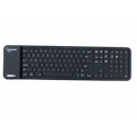 Gembird Flexible silicone Bluetooth keyboard, USB, black color, US layout