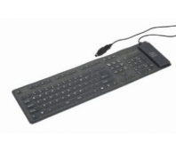 KEYBOARD FLEXIBLE USB/PS2 ENG/BLACK KB-109F-B GEMBIRD
