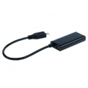 Gembird adapter MHL-> HDMI(F)+MICRO USB(BF)(11pin)smartfon to TV HD+power supply
