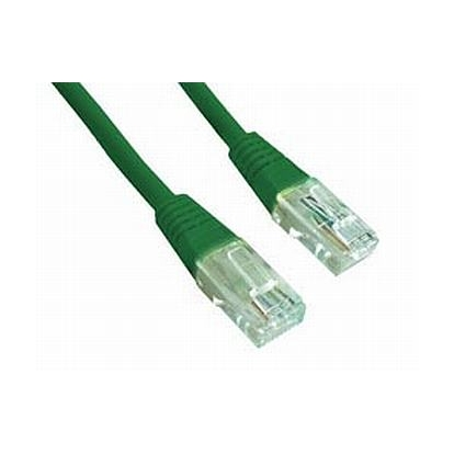Gembird PP12-1M/G Green Patch cord cat. 5E molded strain relief 50u""