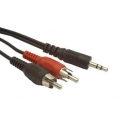 "Cablexpert 2.5m, 3.5mm/2xRCA, M/M 2.5 "", Black, Red, White"