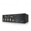 ICYBOX IB-867-B IcyBox 5.25 Card Reader With Multiport Panel, 60 Card Types, USB 3.0, eSATA