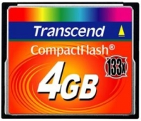 MEMORY COMPACT FLASH 4GB/SLC TS4GCF133 TRANSCEND