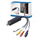Logilink Video graber USB 2.0: RCA composite, S-Vid, USB 2.0 A M