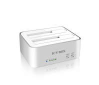 ICYBOX IB-120CL-U3 Docking station for 2x2,5 and 2x3,5 HDD case SATA, USB 3.0, JBOD, White