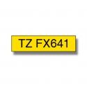 Brother TZ-FX641 Flexible ID Laminated Tape Black on Yellow, TZe, 8 m, 1.8 cm