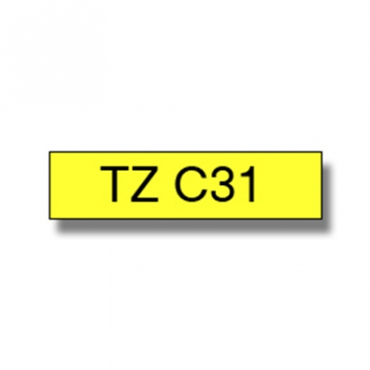BROTHER TZC31 12 BLACK ON YELLOW