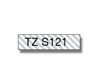Brother TZe-S121 Strong Adhesive Laminated Tape Black on Clear, TZe, 8 m, 9 mm