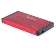 HDD/SSD enclosure Gembird for 2.5'' SATA - USB 3.0, Aluminium, Red