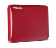 "Toshiba Canvio Connect II 2000 GB, 2.5 "", USB 3.0, Red, 10 GB Cloud Storage (Pogoplug)"