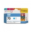 HP no.70 Ink Cart. Cyan with Vivera Ink (130ml)