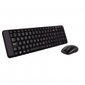 Logitech MK220 Wireless Keyboard And Mouse, English/Russian, Black, Yes, Russian, USb Mini reciever