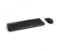 Microsoft Wired Desktop 600 keyboard and mouse USB Port English International, Black