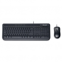Microsoft APB-00011 Wired Desktop 600 Multimedia, Wired, Keyboard layout RU, Black, Mouse included
