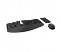 Microsoft L5V-00009 Sculpt Ergonomic Desktop Multimedia, Wireless, Keyboard layout DK, Black, Mouse included, Danish, Numeric keypad, 842 oz