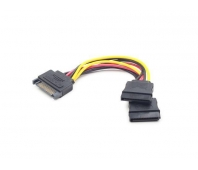 CABLE POWER SPLITTER SATA/0.15M CC-SATAM2F-01 GEMBIRD